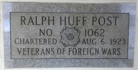 Ralph Huff Post plaque